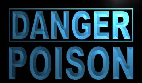 Danger Poison Neon Light Sign