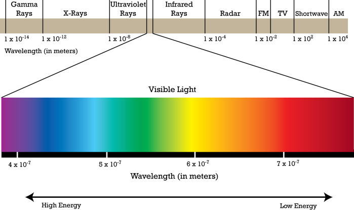 Simple electromagnetic spectrum 2 the electromagnetic spectrum physics libretexts is colored vision just a brain adjustment as renovating ccuart Images