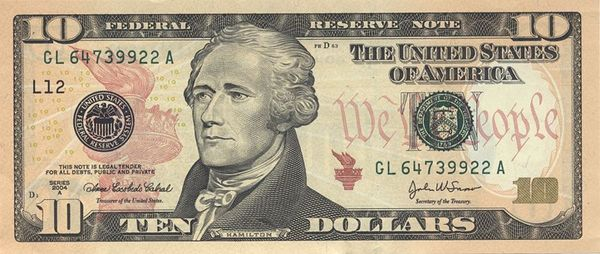 10-dollar-bill-detailing-federal-reserve-note