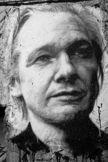 wikileaks-painted portrait