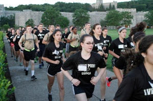 girls-military-academy-west-point-getting-in-shape-running