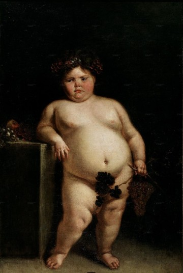 fat-child-painting-shows-morbid-obesity