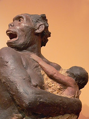 RENOVATING-YOUR-MIND-neanderthal-mother-with-child-ancient-man