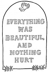 everything-was-beautiful-and-nothing-hurt-gravestone-of-author-vonnegut-kurt