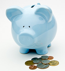 blue-piggy-bank-with-money-on-ground-around-it-donations-please