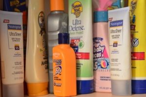 sunscreen-display-multiple-products-to-prevent-sunburn
