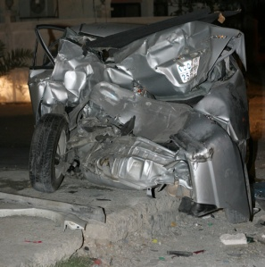 fatal-car-accident-vehicle-completely-demolished