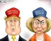 Trump and Hillary Cartoon