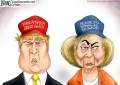 Trump and Hillary Cartoon