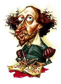 william-shakespeare-cartoon-gold-hoop-earring